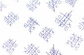 stock photo of tic-tac-toe  - Hand drawn tic - JPG