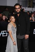 LOS ANGELES - MAR 18:  Lisa Bonet & Jason Momoa arrives to the 'Divergent' Los Angeles Premiere  on
