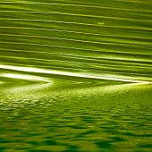 Palm Frond Submerged In Rippling Water