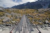 Chain Bridge, Mount Cook / Aoraki, Mount Cook National Park, South Island New Zealand