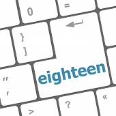 Enter Keyboard Key With Eighteen Button