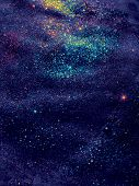 foto of cluster  - abstract space background large cluster of stars bright twinkling stars - JPG