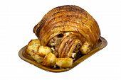 Roast Leg Of Pork With Crispy Potatoes