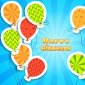 pic of applique  - Happy birthday colorful applique background - JPG