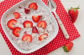 Yoghurt with strawberries and granola