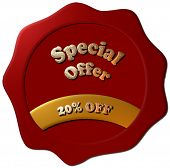 Special Offer 20% Off (red wax seal)