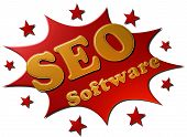 SEO Software (red explosion & stars)