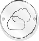 Cloud Web Icon Button