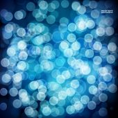 Blue festive background. Elegant abstract background with bokeh defocused lights.