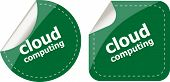 Stylish Cloud Speech Bubble, Cloud Computing Concept