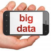 Information concept: Big Data on smartphone