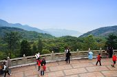 Tourists walk alongside the Big Buddha panorama point