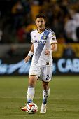 CARSON, CA - APRIL 12: Los Angeles Galaxy M Stefan Ishizaki #24 during the MLS game between the Los