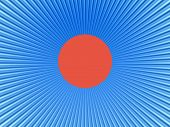 Rays  In Abstract Orange Blue  Universe