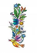 Vector ukrainian ethnic floral ornament
