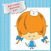 stock photo of rn  - National Nurses Day cheerful poster - JPG