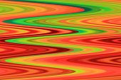 Color Background of Abstract Art and Screensaver beauty - Green and Red Lines