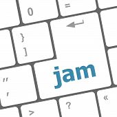 Jam Word On Computer Keyboard Pc Key