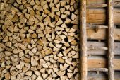 Firewood In A Barn