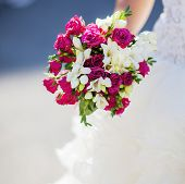 wedding bouquet in the bride's hand