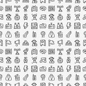 Seamless Doodle Network Pattern