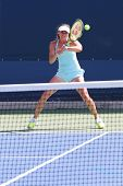 Five times Grand Slam champion Martina Hingis practices for US Open 2014