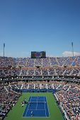 Arthur Ashe Stadium during US Open men semifinal match between Novak Djokovic and Kei Nishikori