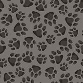 image of animal footprint  - Seamless pattern background with abstract animal footprints - JPG