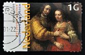 NETHERLANDS - CIRCA 1999: a stamp printed in Holland shows image of the Rembrandt painting
