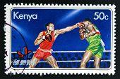 KENYA - CIRCA 1978: A stamp printed in Kenya shows image of boxing circa 1978.