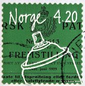 NORWAY - CIRCA 1999: A stamp printed in Norway shows Aerosol spray circa 1999