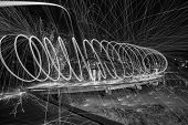 Steel Wool Spinning 30 second exposure