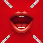 Vector illustration of a beauty injection.