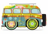 pic of hippy  - Funny colorful hippie car - JPG