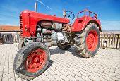 Steyr 185 at annual Vintage tractor exhibition in Cameno Burgos Spain