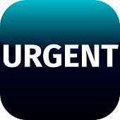 Text Urgent On Blue Icon