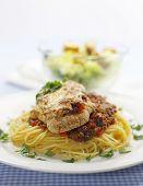 Parmigiana Meal With Caesar Salad