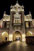 Main Gate Of Cloth Hall (polish: Sukiennice) In Krakow
