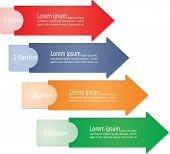 Infographic arrows for business design. Vector