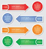 Infographic arrows templates. Vector illustration