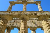 Details the greek temple of Cecere - Paestum Italy