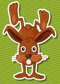 Illustration of a close up rabbit