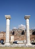 Columns Basilica of St. John in Selcuk