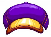 Illustration of a violet cap on a white background