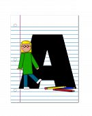 Alphabet Start Of School Two A
