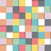 abstract seamless repeating background with color squares