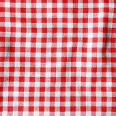 Red Linen Tablecloth.