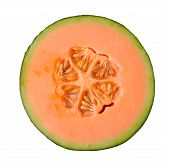 pic of cantaloupe  - Fresh cantaloupe melon isolated on white background - JPG
