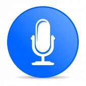 microphone internet blue icon