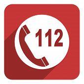 112 call flat icon